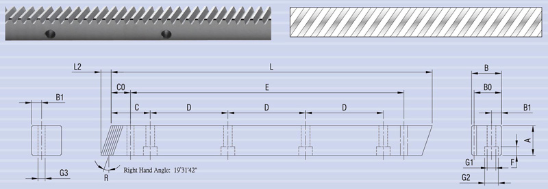 Helical (Skew) Gear Rack